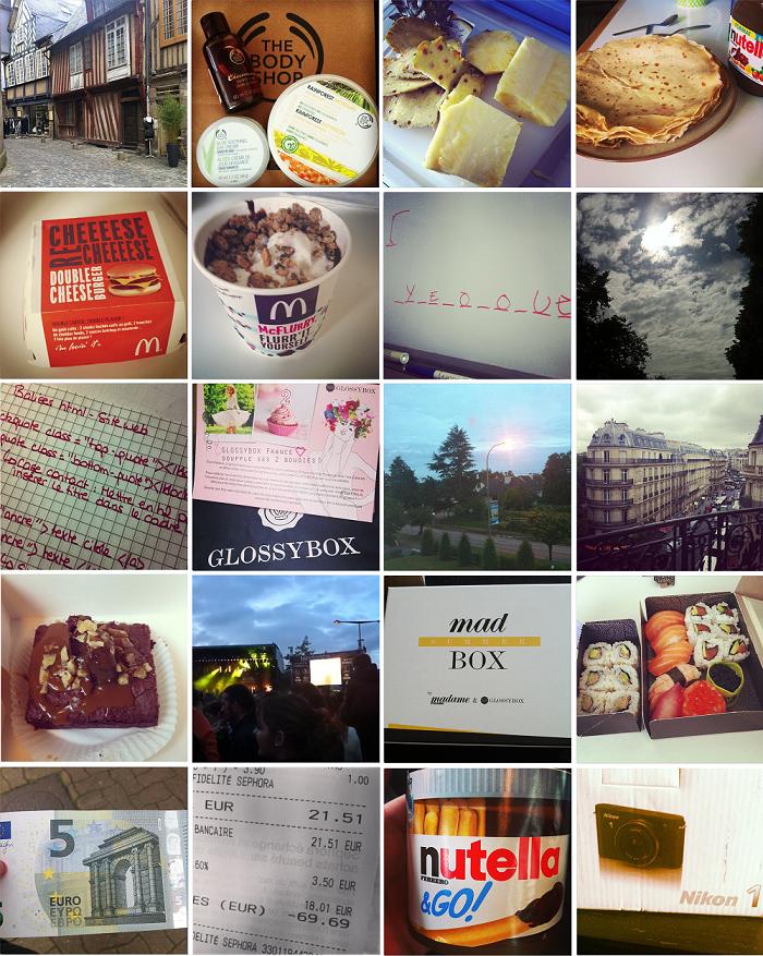 Mes semaines Instagram #20 #21 #22