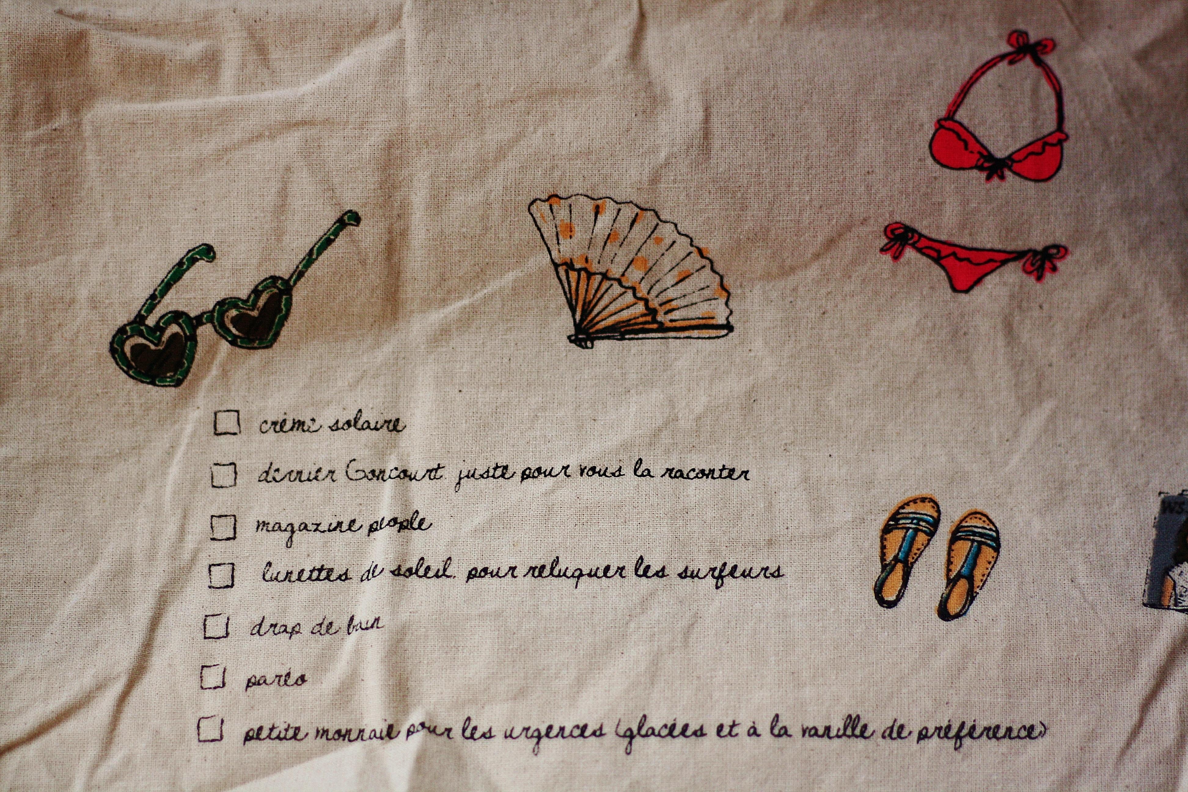 Tote bag big size pour la plage by Kanako - Verso
