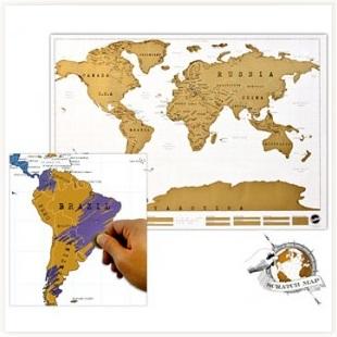 Carte du monde à gratter - Tasse-toi.com