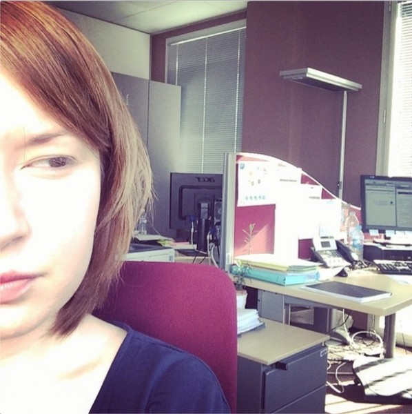 Selfie au travail