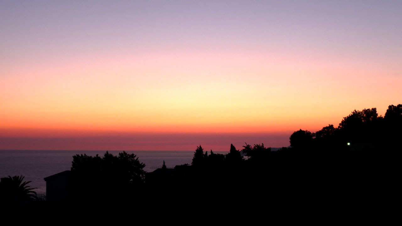Coucher de soleil au Monténégro
