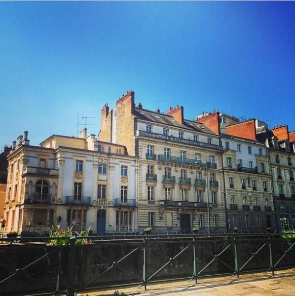 Rennes- Les quais sous le soleil