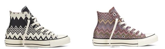 Converses hautes de la collection Missoni
