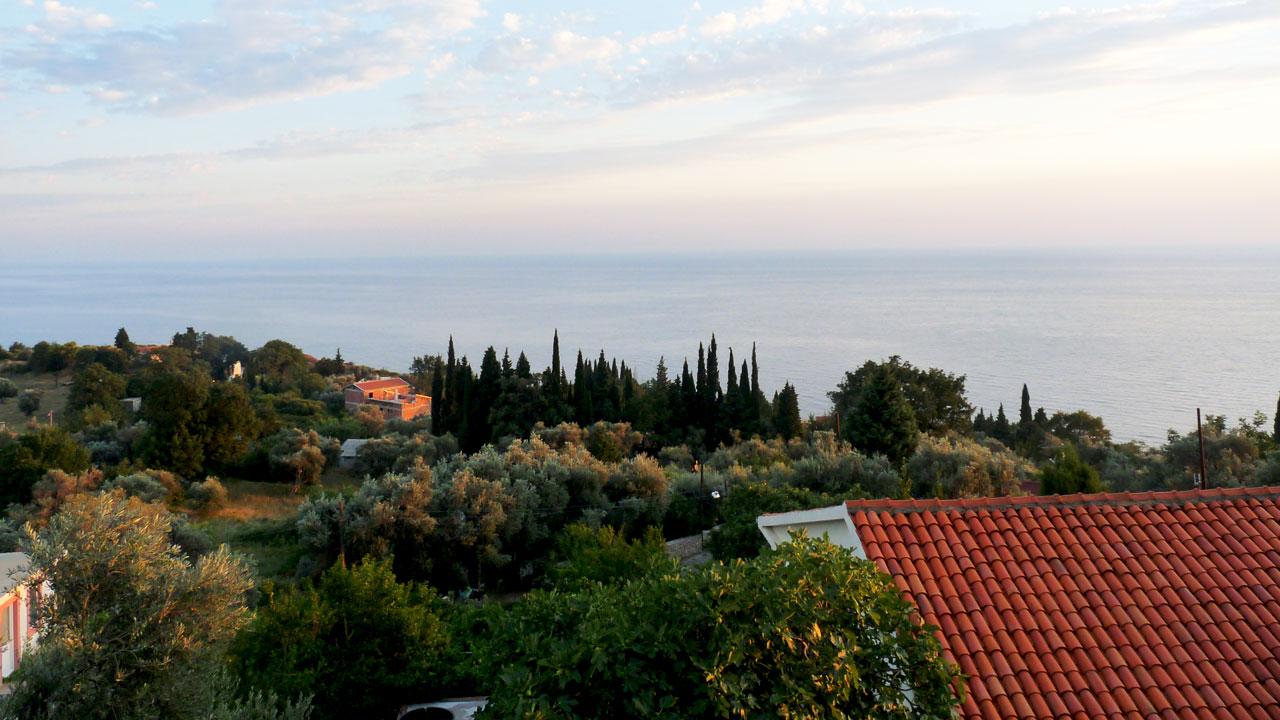 Vue mer adriatique au Monténégro