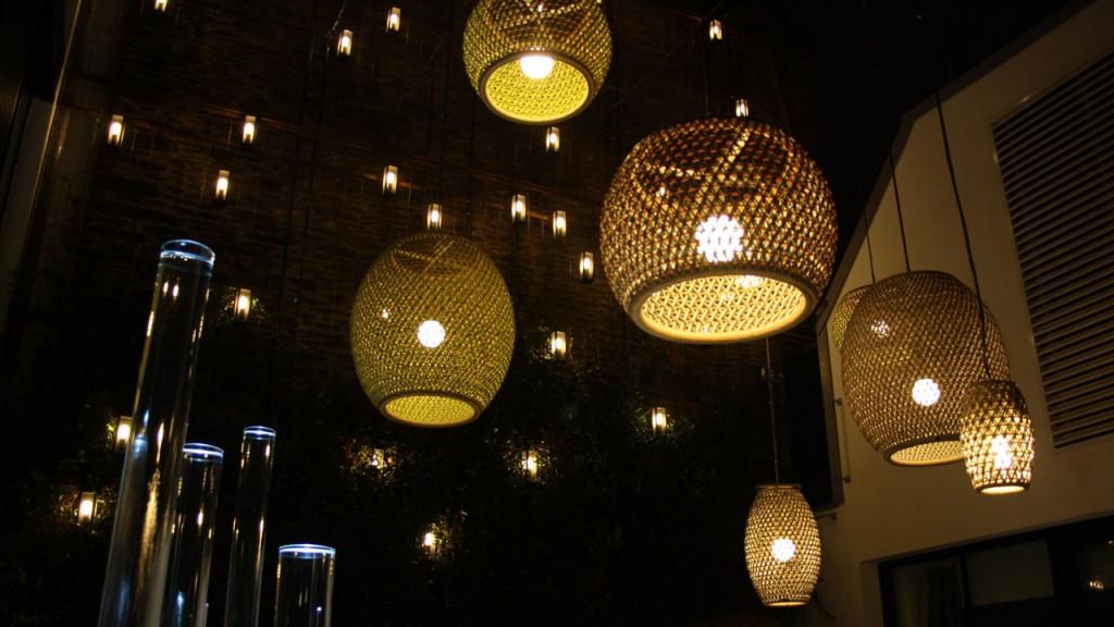 Le patio de nuit