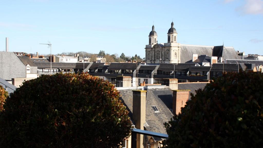 Vue sur Rennes depuis le Balthazar