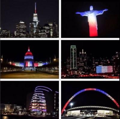 Le monde aux couleurs de la France