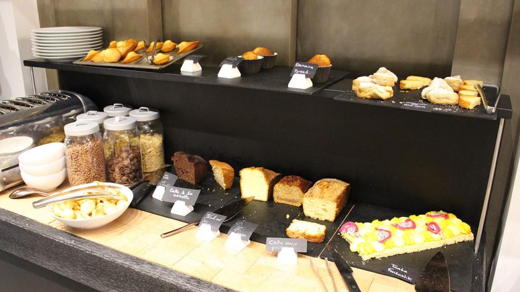 Buffet froid du brunch à l'hôtel Balthazar Rennes