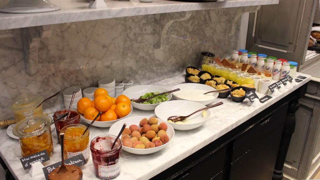 Buffet de fruit au Brunch du Balthazar