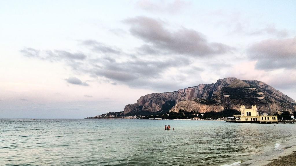 Plage de Mondello en Sicile