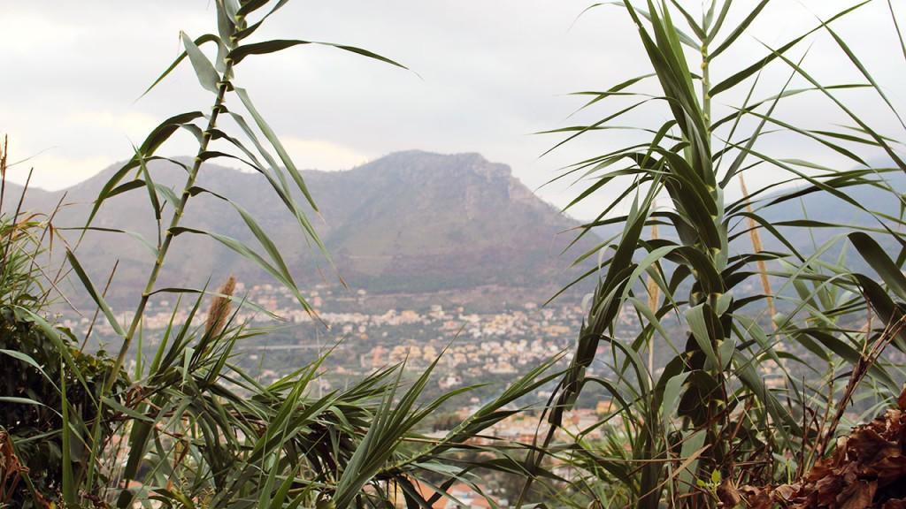 Vue sur les montagne de Sicile