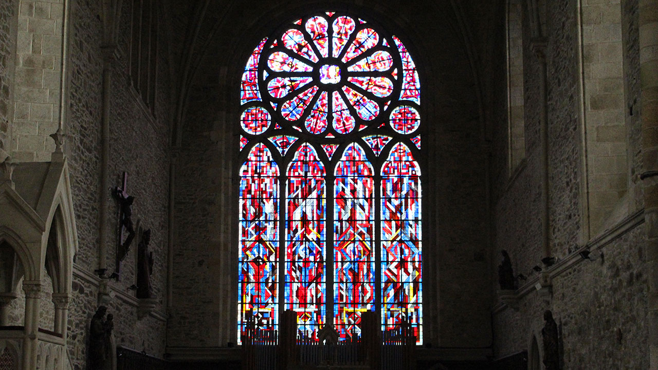 Vitrail abbaye de Léhon