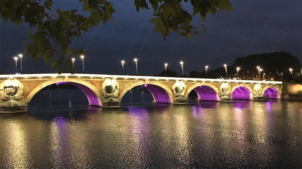 pont neuf toulouse de nuit