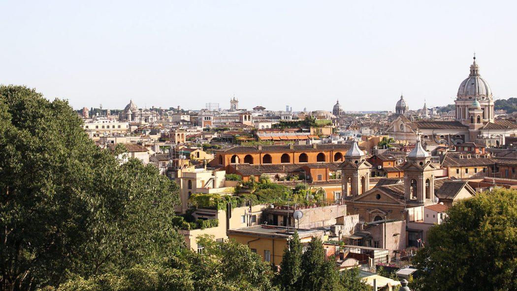 vue depuis la villa borghese rome