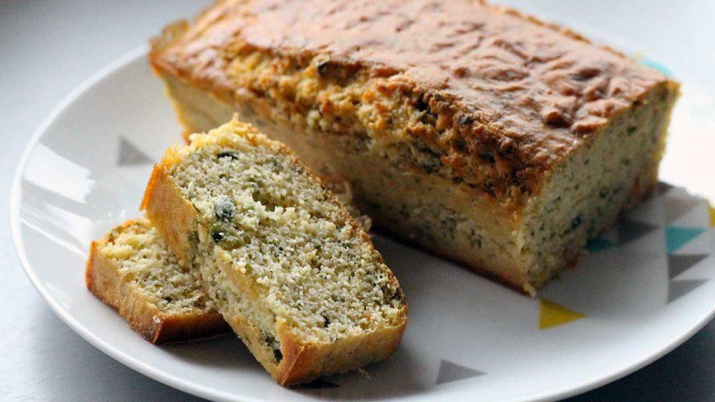 cake chevre basilic sans gluten