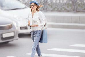 look femme en jean skinny